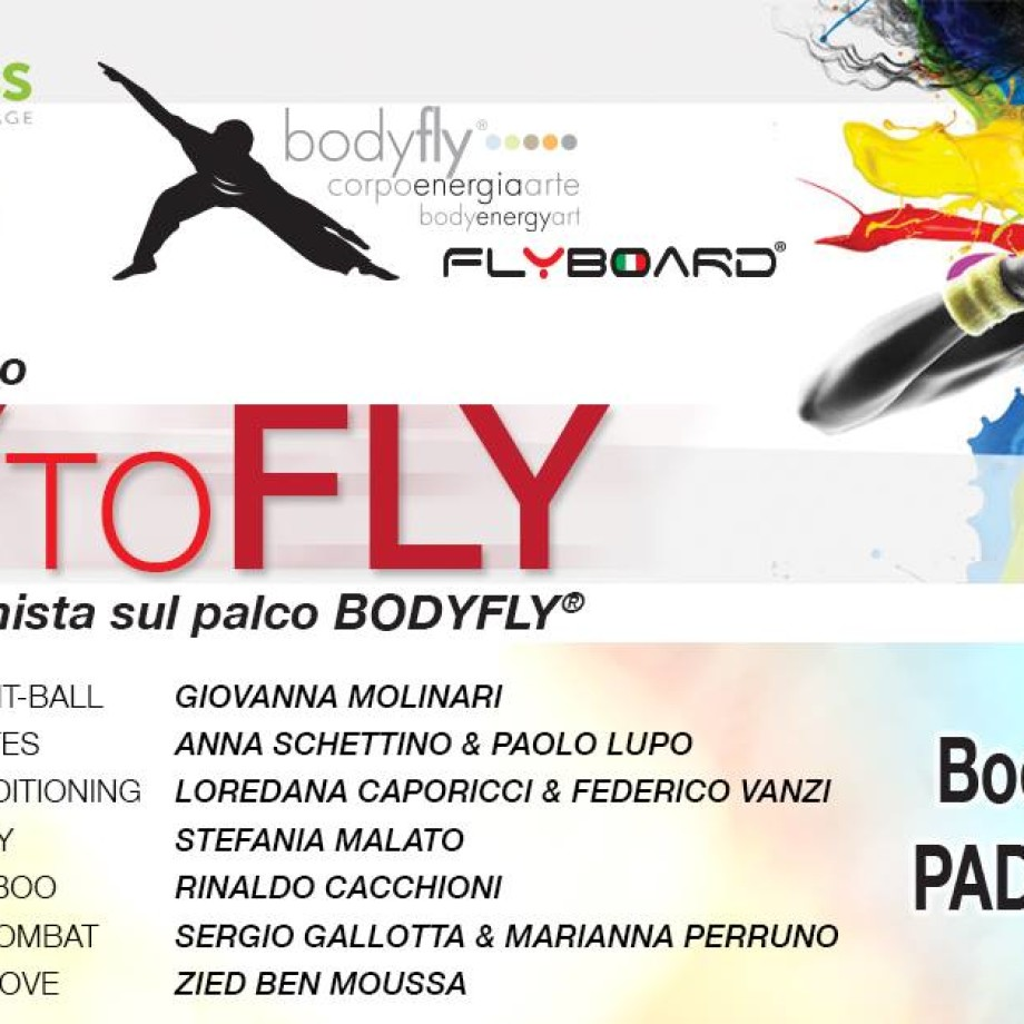 TRY TO FLY TRAINERS ON BODYFLY STAGE @ RIMINI WELLNESS 2016